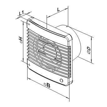 габаритные размеры вентилятора