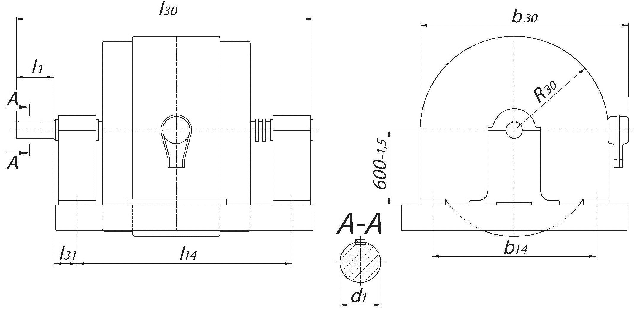 габаритные размеры электродвигателя