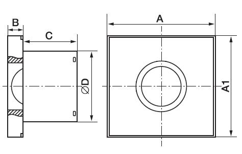 габаритные размеры вентилятора Electrolux EAFM-100